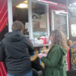 The Great Garbanzo food truck owned by John Grossman and Dawn Cordeiro of Holyoke Hummus Company is last in a long line of vendors behind Abandoned Building Brewery in Easthampton.